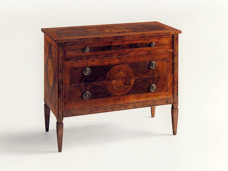 Kyd, Wooden spruce chests, classic luxury, for Villa