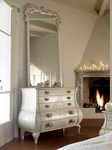 Matilde chest of drawers, Chest of drawers with handles in the shape of a heart