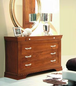 New '800 131/B, Classic chest of drawers in walnut
