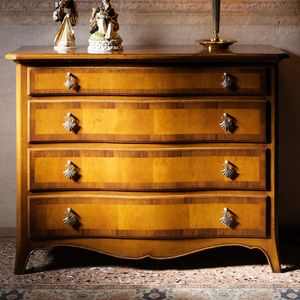 Noyers  VS.1054, Walnut and cherry chest of drawers with four drawers