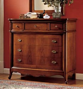 Opera chest of drawers, Wooden chests with luxurious finish for bedrooms
