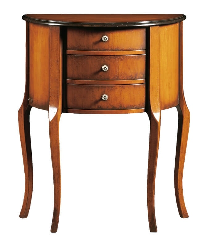 Pablo FA.0075, Louis XVI half-moon chest of drawers with three drawers