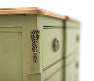 PAVO Art. 1498, Antique dresser, lacquered, walnut top, for historic villa