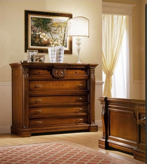 REGINA NOCE / Chest of drawers, Classic dresser with drawers, for Hotel Room