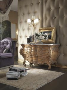 Regio commode, Classic chest of drawers with marble top