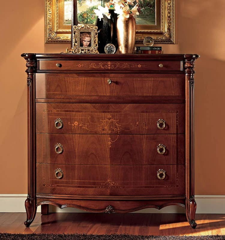 Roma chest of drawers, Dresser handcrafted in classic luxury style