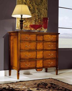 Sinfonia walnut chest of drawers, 4-drawer wooden dresser
