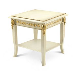 1470LQ/TL, Carved wood side table with square top