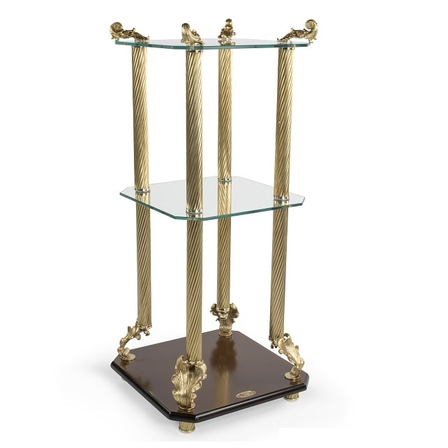 2014, Classic luxury side table, with tempered glass tops