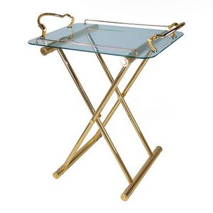 2019, Folding table in brass and glass