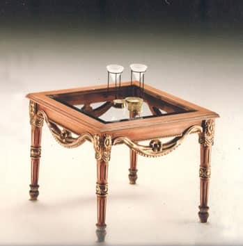 2760 ROUND SMALL TABLE, Coffee table with crystal top, outlet price