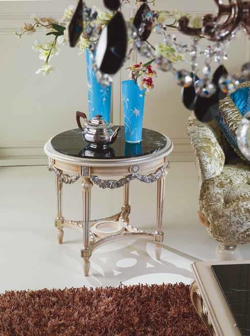2894 coffee table, Coffee table with black marble top