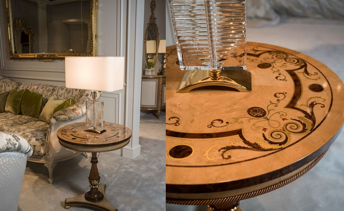 4965, Round tables made with precious woods