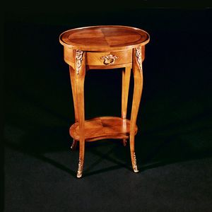 Art. 142/C Ciliegio, Oval side table in cherry wood