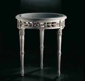 Art. 20518, Classic side table, with glass top