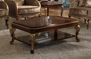 ART. 2079, Classic coffee table in walnut