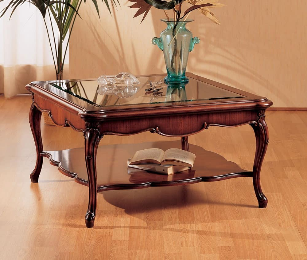 Art. 220/Q, Small table with decorated legs, for living room