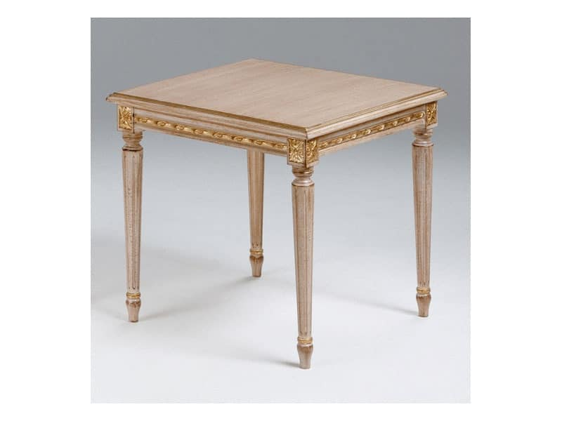 Art. 261/55, Wooden coffee table for classic living room, Louis XVI style
