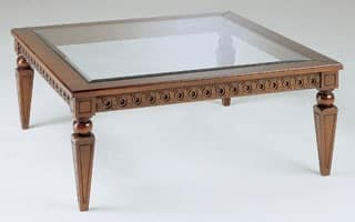 Art. 340 Creso, Luxury table, hand-decorated, for center hall