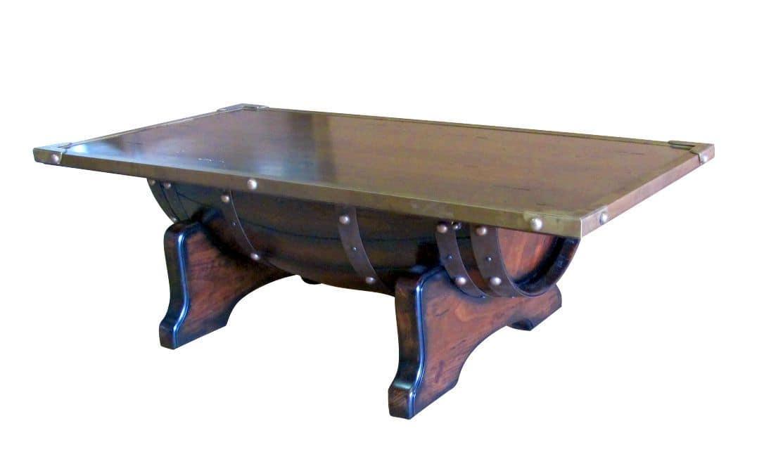 Art. 625, Smoking table, brass edging, wooden top