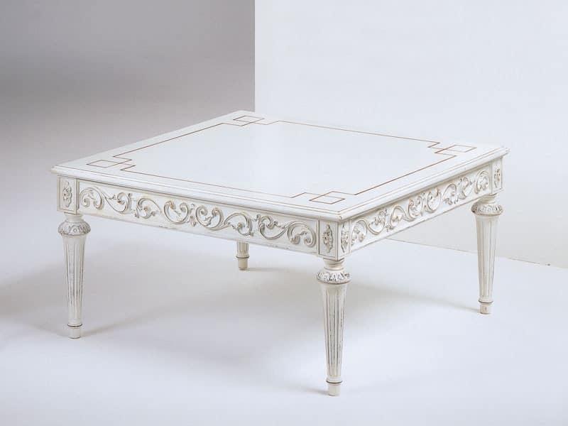 Art. 910 Decò, Square coffee table handmade, for classic hotel