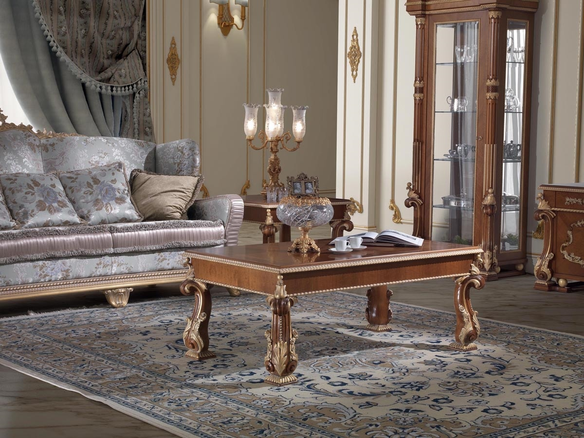 Art. 92, Classic style coffee table, carved