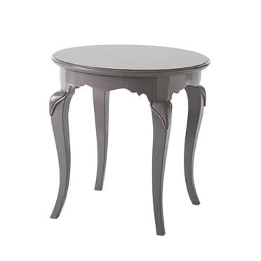 Art. AX512, Wooden Coffee Table, Round Top, In Pastel Colors