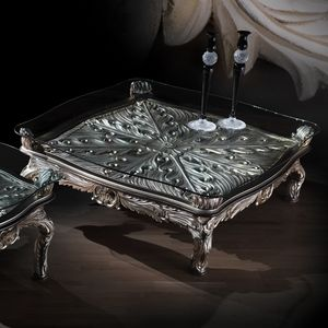 Coffee table 4646, Classic coffee table with silver finishes