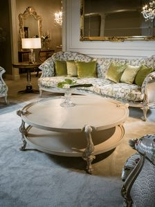Coffee table 4963, Classic style lacquered coffee table