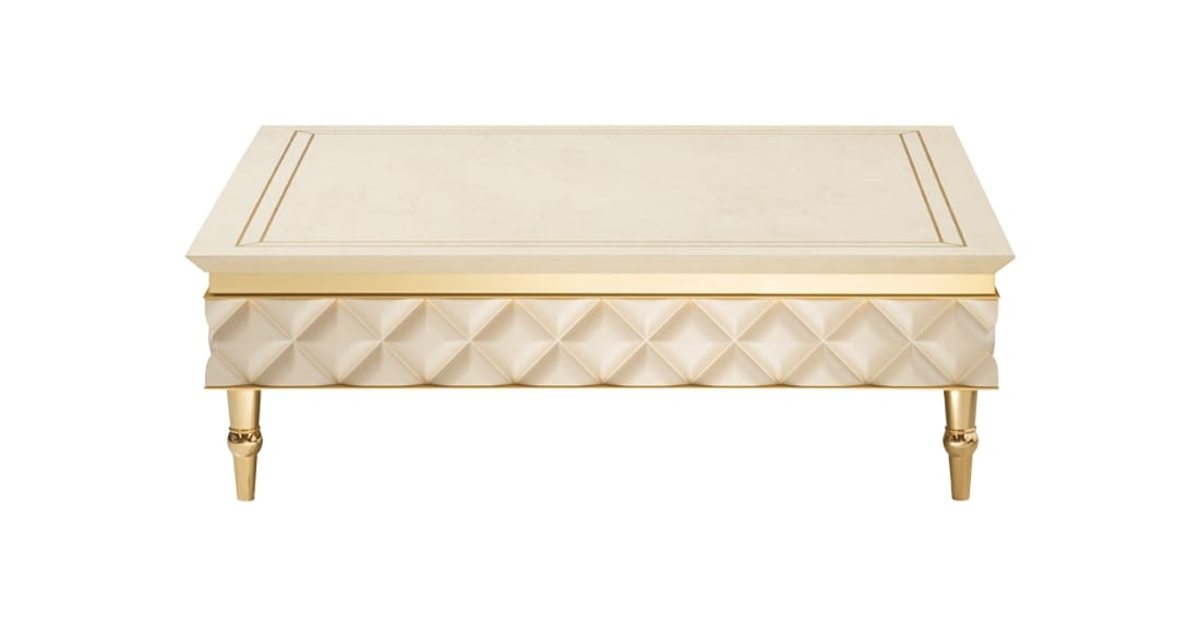 SIPARIO coffee table 1, Classic style coffee table, with golden feet