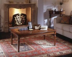 D 503, Coffee table with floral inlay, in classic style