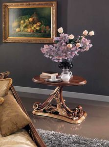 Edenica small table, Hand-carved wooden coffee table