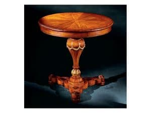 Elena side table 750, Side table with round inlayed top