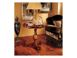 Elena side table 752, Small table with carved wood structure