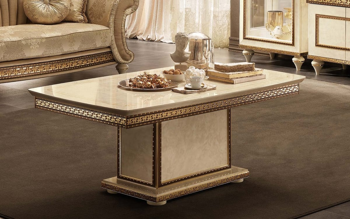 Fantasia coffee table, Coffee table with marble top