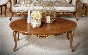 Fenice Art. 1214 - 1614, Oval wooden coffee table