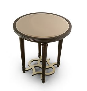 FLORA / side table with round bronze mirror top, Elegant round side table