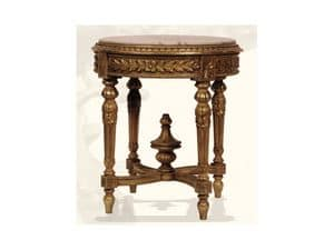 Gu�ridon art. 305, Gu�ridon made of wood with top in marble, Louis XVI Style