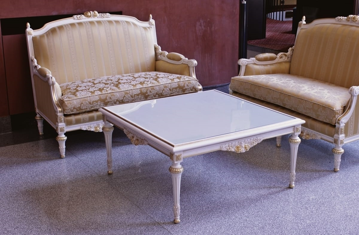 Impero coffee table, Classic coffee table for sitting room