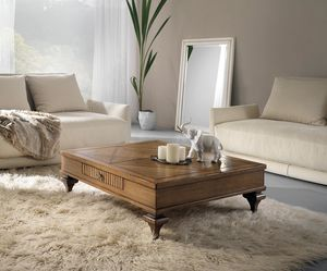 Inglese oak coffee table, Classic wooden coffee table