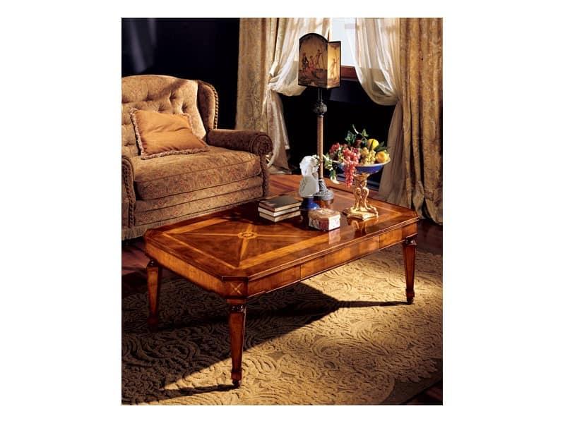 Katerina coffee table 853, Coffee table with handmade inlays