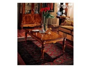 Marcus coffee table 771, Coffee table in carved wood