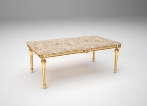 Margot coffee table, Luxurious carved coffee tables