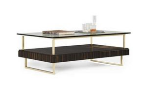 New York small table, Contemporary style coffee table with glass top