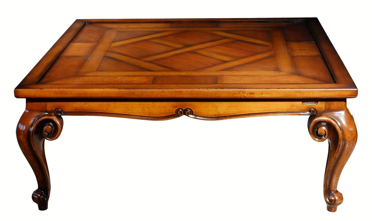 Picasso RA.0687.A, Rectangular coffee table in walnut, for rich salons