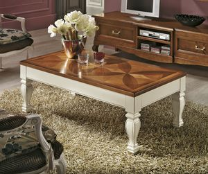Quadrifoglio coffee table, Rectangular opening table