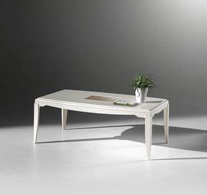 ST 512, Rectangular coffee table in ash, with central insert