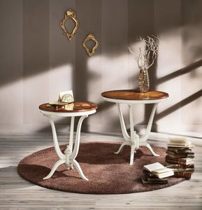 Vienna lamp holder, Round side tables with inlaid top