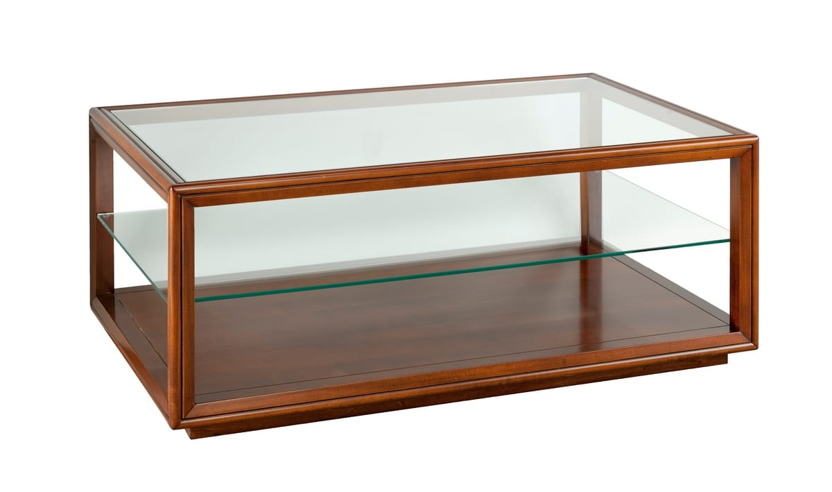 Villa Cinquanta small table 3572, Classic coffee table with glass top