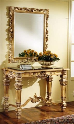 3100 CONSOLE, Carved console table suited for luxury hotels